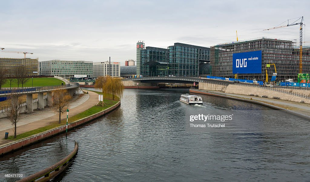 Exterior view of Berlin main station on December 15 2014 in Berlin Germany Berlin main station is located on the site of the historic Lehrter Bahnhof
