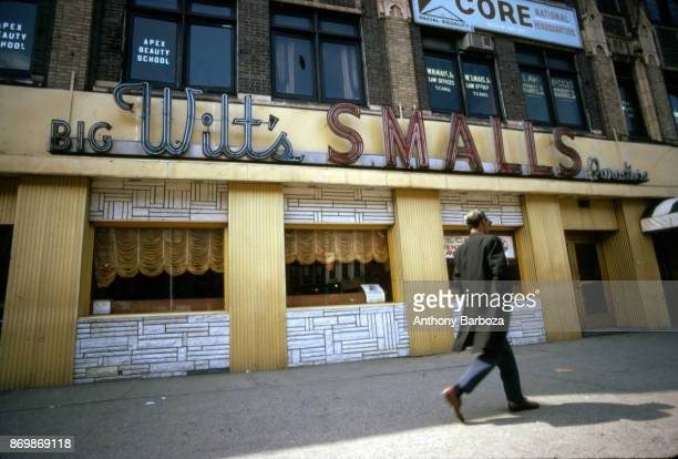 Exterior view of Big Wilt's Smalls Paradise nightclub in Harlem New York New York 1970s Basketball player Wilt Chamberlain was a part owner