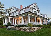 Exterior view of custom home.