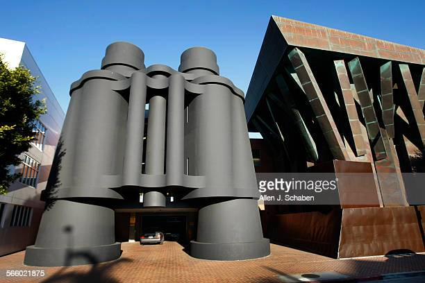 Exterior view of Frank Gehry and Claes Oldenburg's Chiat Day building in Venice Beach now occupied by Google
