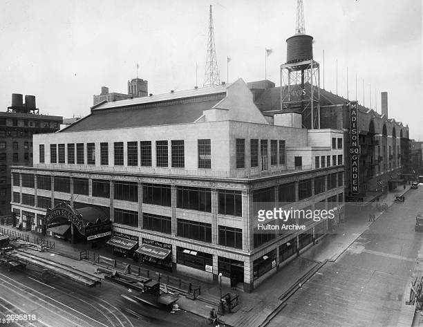 Exterior view of Madison Square Garden The third building with the name located on West 50th Street and 8th Avenue New York City circa 1920's