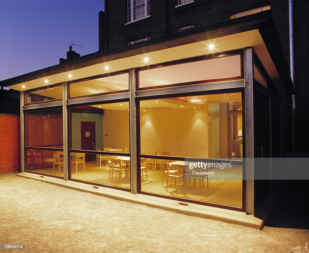 Exterior view of modern extension. : Stock Photo