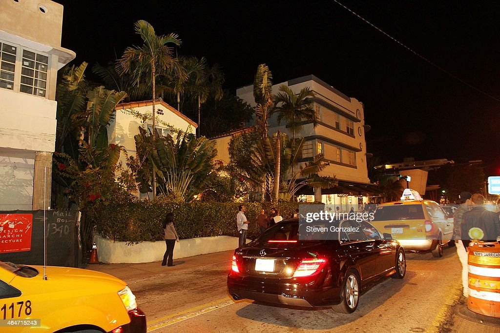 Exterior view of Orchid Hotel where Justin Bieber was reported to be staying on January 23, 2014 in Miami Beach, Florida.