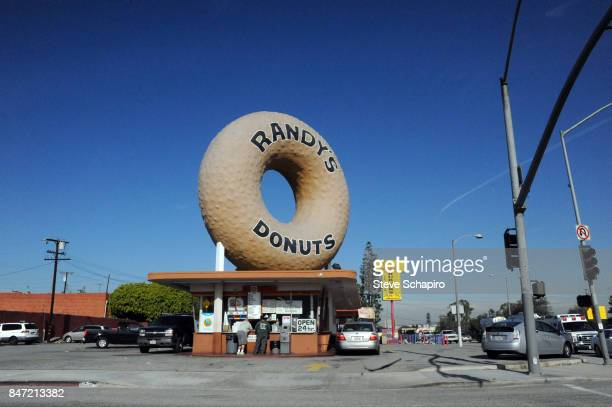 Exterior view of Randy's Donuts Inglewood California August 24 2009