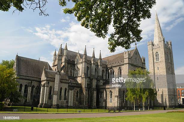 Exterior view of St. Patrick's Cathedral in Dublin, Ireland