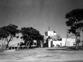 Exterior view of the American Red Cross country club for negro servicemen located at a North African port 1944