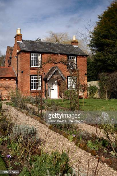 Exterior view of the birthplace of Sir Edward Elgar in Broadheath Worcestershire