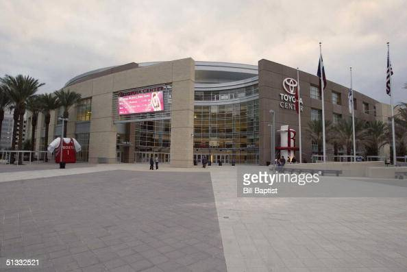 Exterior view of the brand new Toyota Center in 2003 in Houston Texas NOTE TO USER User expressly acknowledges and agrees that by downloading and or...