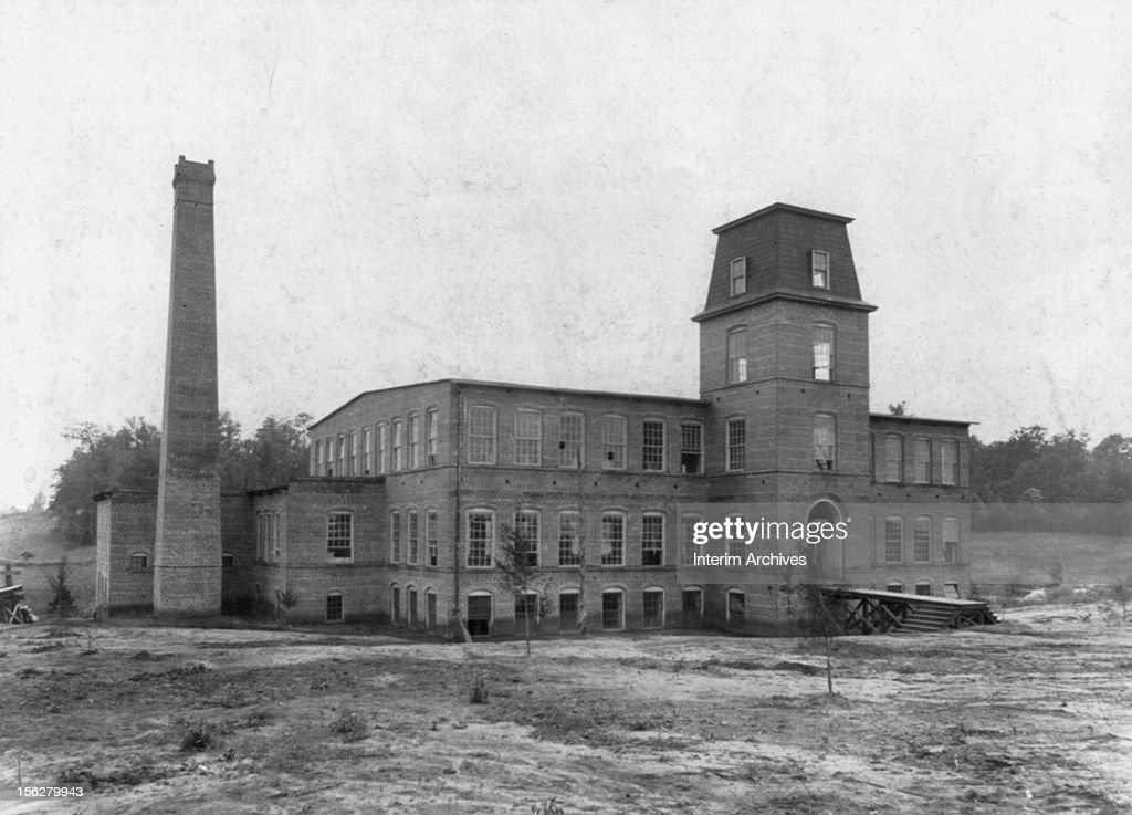 Exterior view of the Coleman Manufacturing Company the first first African American owned and operated textile mill located in Concord North Carolina...