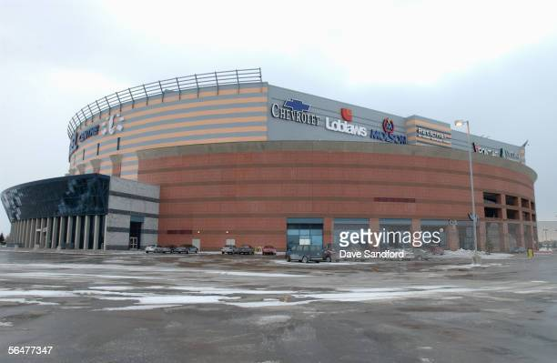 Exterior view of the Corel Centre home of the Ottawa Senators taken on February 6 2003 in Kanata Ontario Canada