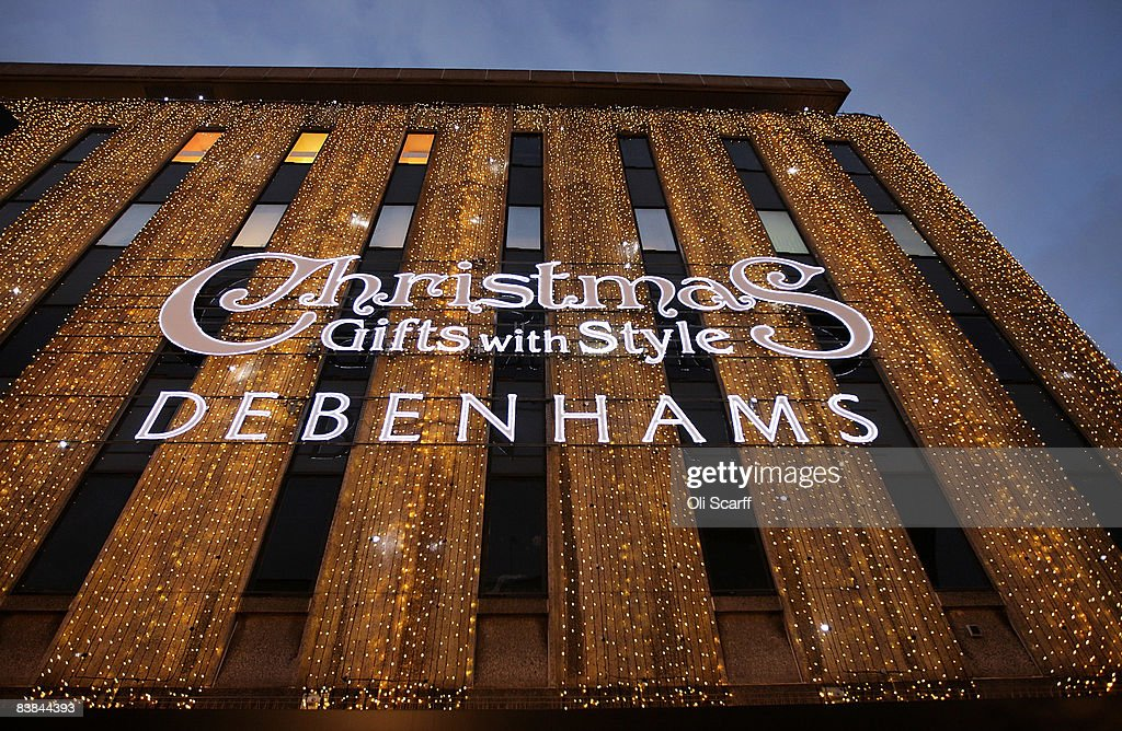 Exterior view of the Debenhams department store on Oxford Street on November 27, 2008 in London, England. The store is holding a two day 20% Off sale to entice Christmas shoppers in a difficult season for retailers as the global credit crisis begins to affect the high street.