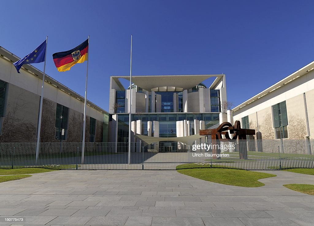GERMANY BERLIN Exterior view of the Federal Chancellery in Berlin