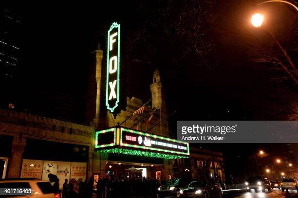 Exterior view of The Fox Theatre during All My Friends Celebrating the Songs Voice of Gregg Allman at The Fox Theatre on January 10 2014 in Atlanta...
