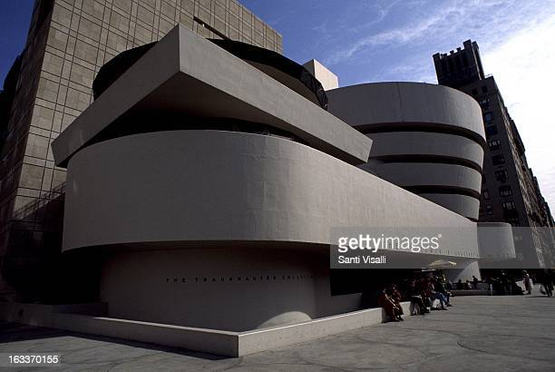 Exterior view of the Guggenheim Museum by Frank Lloyd Wright on October 5 1985 in New York New York