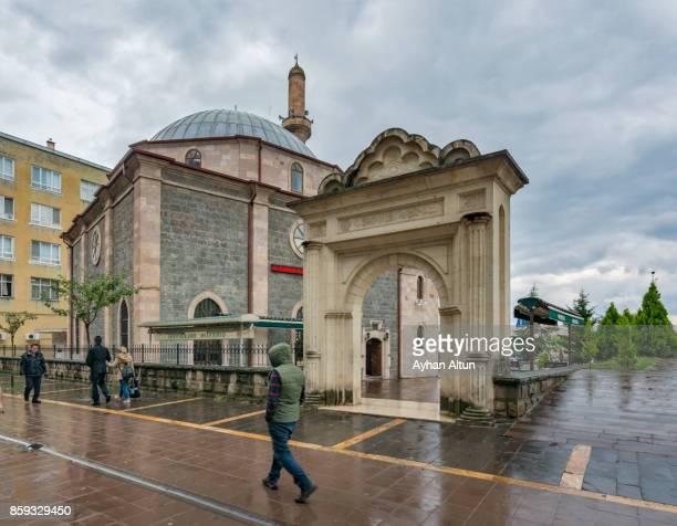 Exterior view of The Haci Miktat Mosque in the city centre of Giresun,Black Sea Coast of Turkey
