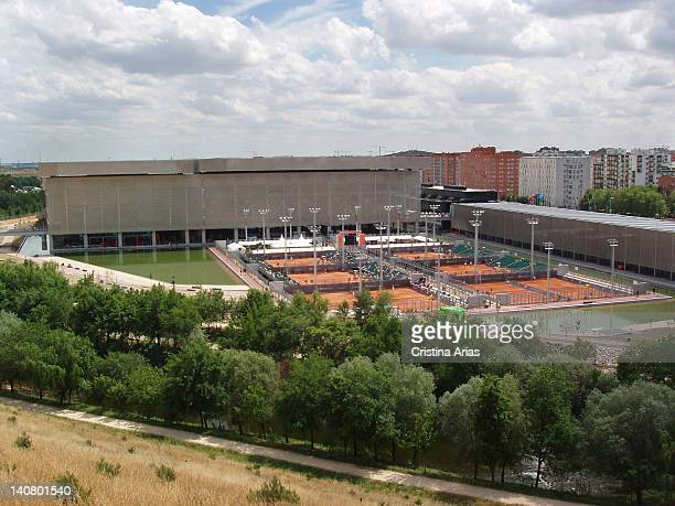 Exterior view of the Magic Box a sports complex for tennis which was designed by French architect Dominique Perrault is part of the infrastructure...