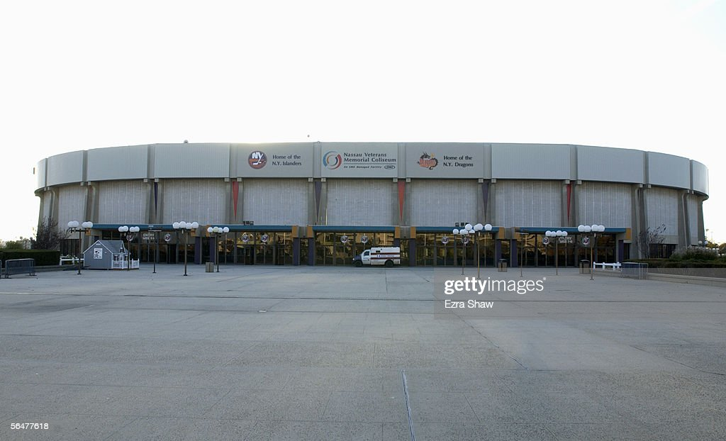 Exterior view of the Nassau Collisium home of the New York Islanders taken on November 8 2002 in Uniondale New York