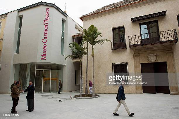 Exterior view of the new Thyssen Museum on March 23 2011 in Malaga Spain The Musuem will have a permanent collection of 230 pieces handed over by...
