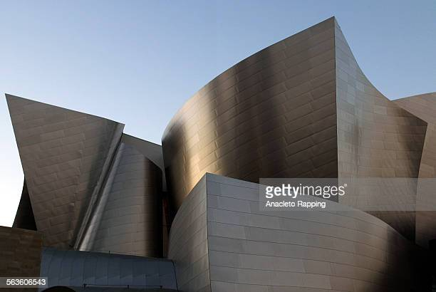 Exterior view of the new Walt Disney Concert Hall in downtown Los Angeles Photo taken 8/27/03