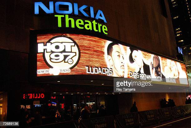 Exterior view of the Nokia Theater during Hot 97's 'Thank You New York' Concert on November 30 2006 in New York City