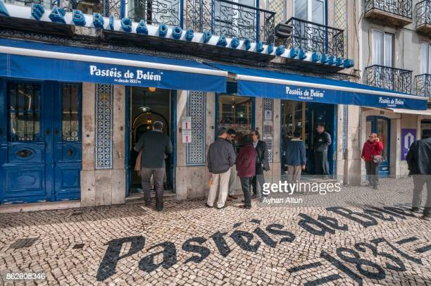 Exterior view of The Pasteis de Belem,Lisbon,Portugal