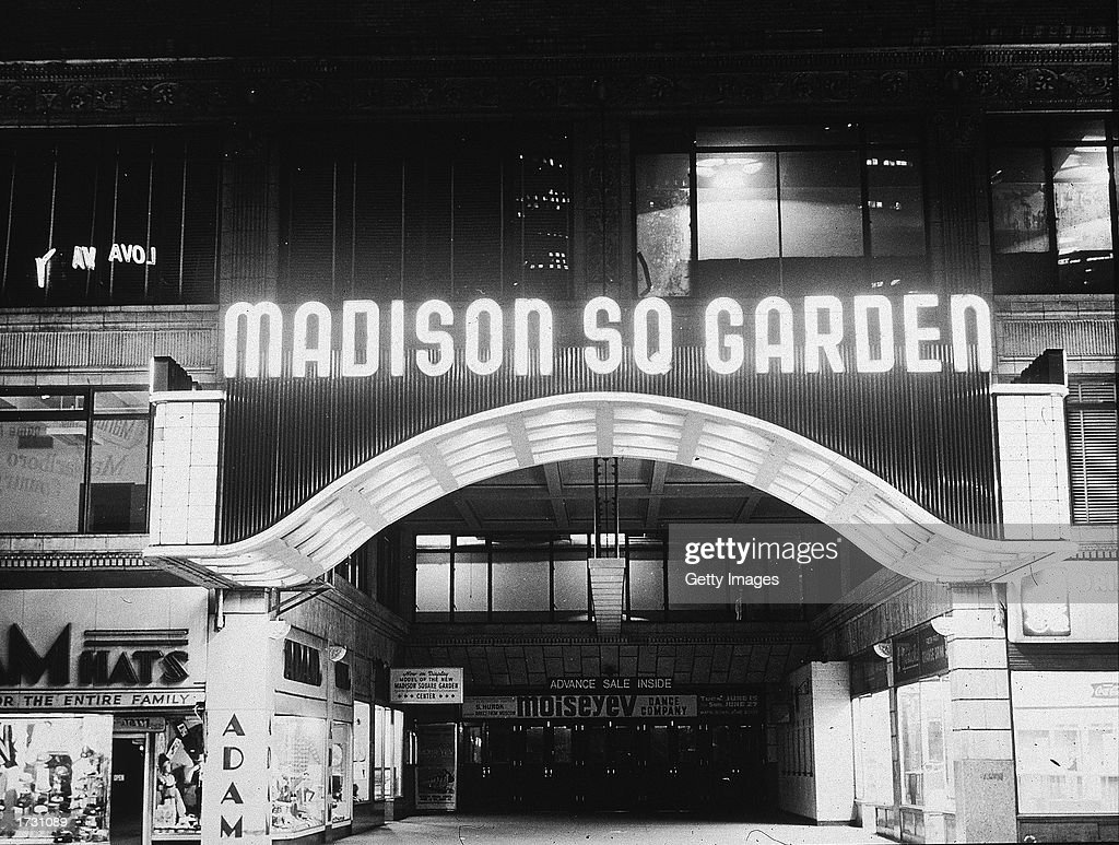 Exterior View Of The Second Old Madison Square Garden New York City 1940s