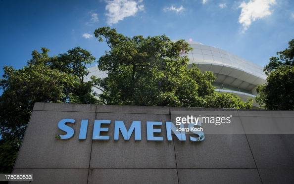 Exterior view of the Siemens Forum part of the Siemens Headquarters on July 31 2013 in Munich Germany Siemens AG Europe's largest electronics and...