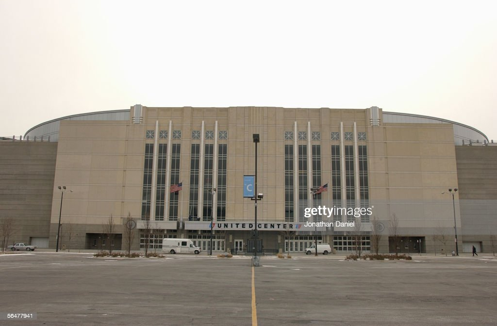 Exterior view of the United Center home of the Chicago Blackhawks taken on January 16 2003 in ChicagoIllinois