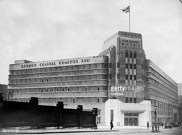 Exterior view of Victoria Coach Station in Central London March 1932