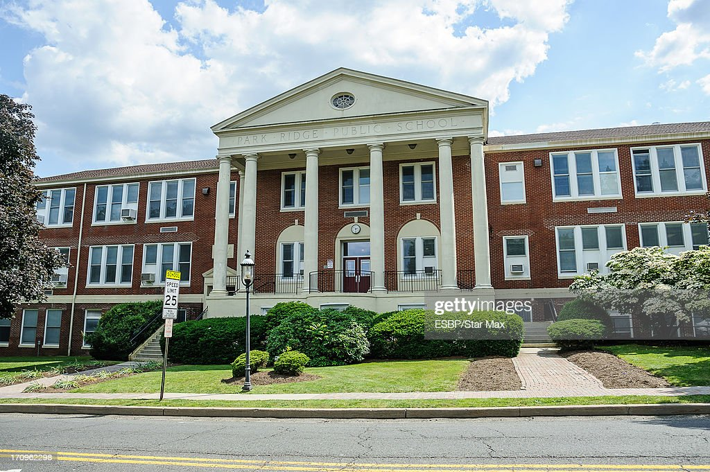 Exterior views of James Gandolfini's high school, Park Ridge High School, as seen on June 20, 2013 in Park Ridge, New Jersey.