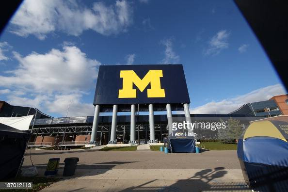 Exterior views of Michigan Stadium on November 3 2013 in Ann Arbor Michigan