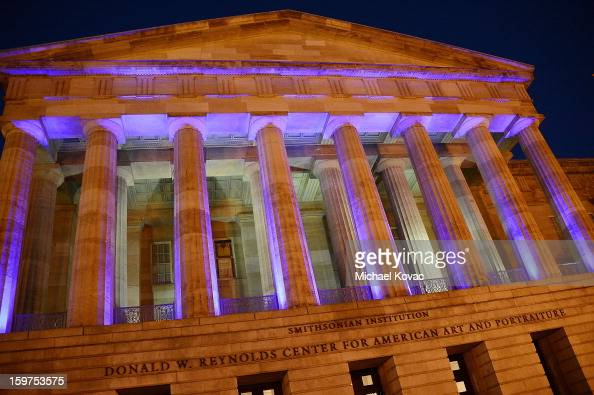 Exterior views of the Inaugural Youth Ball hosted by OurTimeorg at Donald W Reynolds Center on January 19 2013 in Washington United States