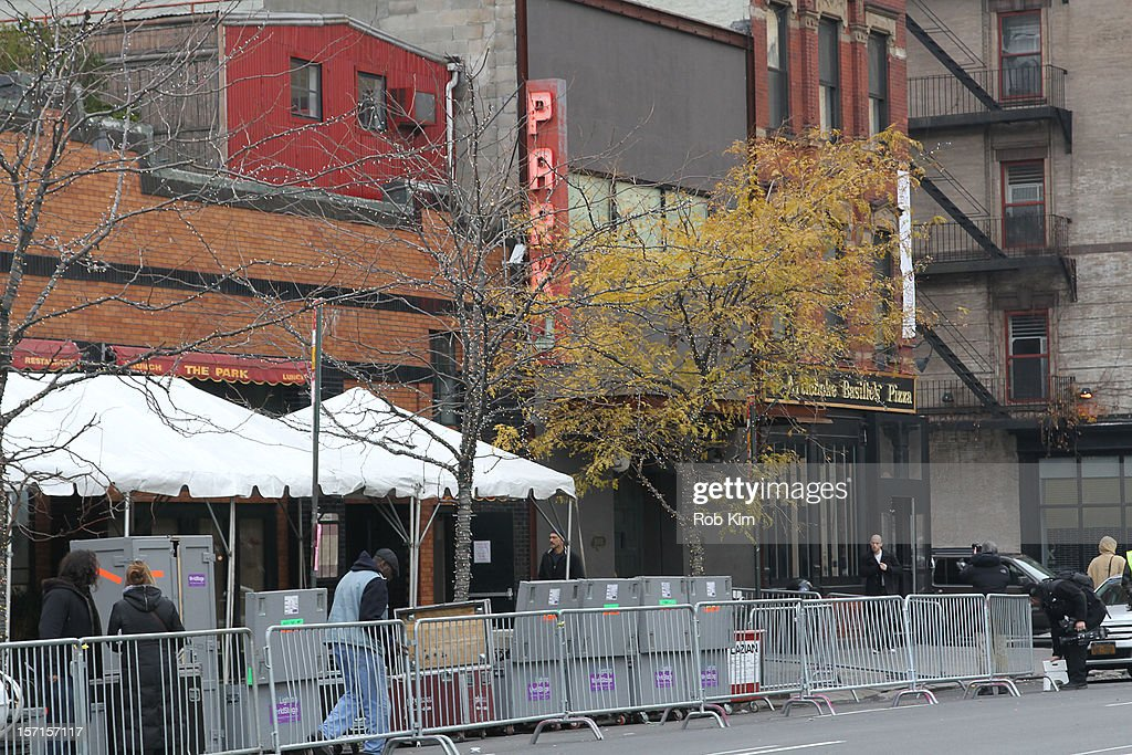Exterior views of the nightclub Avenue on November 29, 2012 in New York City. Lindsay Lohan was charged with third-degree assault after being taken to the 10th precinct following an alleged assault on woman at club Avenue NYC early this morning.