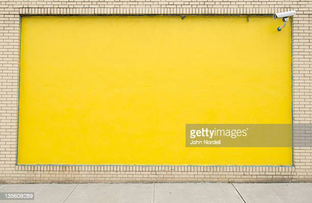 Exterior wall painted yellow