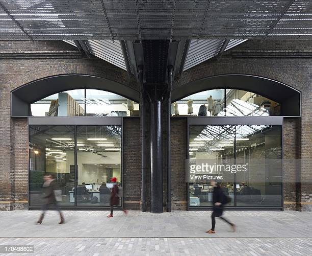 Exterior with pedestrians Central Saint Martins London United Kingdom Architect Stanton Williams 2011