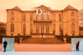 External View of the Christian Dior show as part of Paris Fashion Week Haute Couture Spring/Summer 2014 on January 20 2014 in Paris France