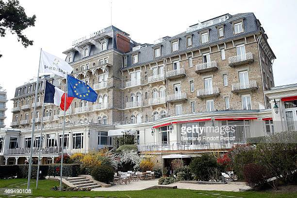 External View of the reopening of the Hotel Royal of the group Barriere of La Baule on April 11 2015 in La Baule France