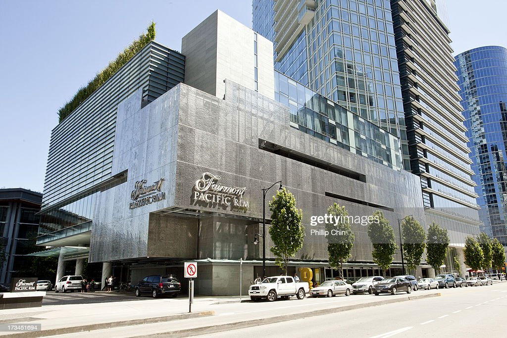 External Views of The Fairmont Pacific Rim Hotel Where Actor Cory Monteith Was Found Dead at Fairmont Pacific Rim Hotel on July 14, 2013 in Vancouver, Canada.