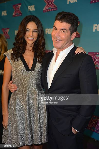 Extra correspondent Terri Seymour and Simon Cowell at Fox's 'The X Factor' Season Finale Night 2 at CBS Television City on December 20 2012 in Los...