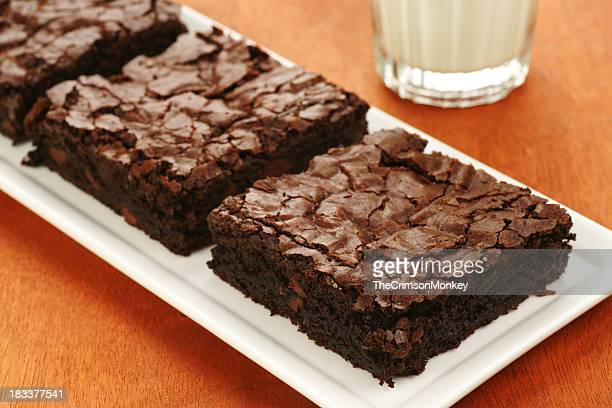 Extra Dark Chocolate Brownies and Milk.