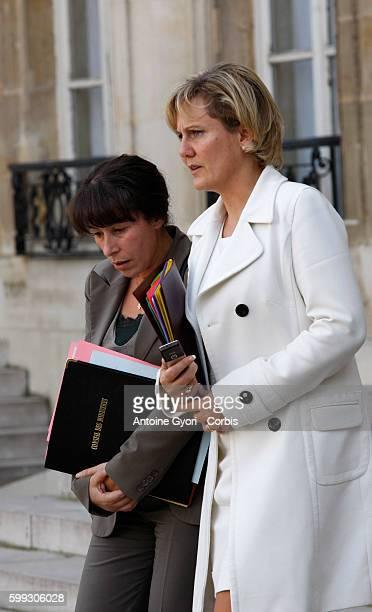 Extraordinary Cabinet meeting at the Elysee palace in Paris Fadela Amara and Nadine Morano