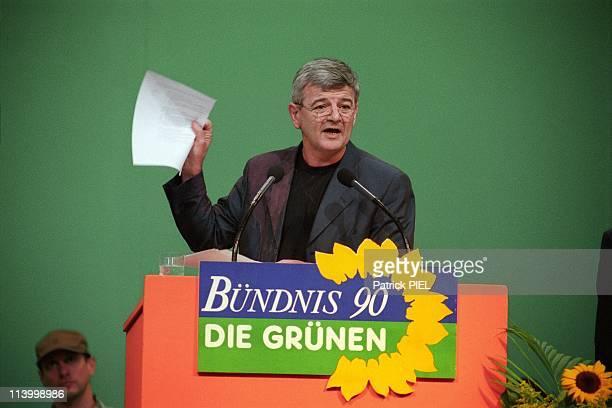 Extraordinary Congress Of Greens In Bielefeld Germany On May 13 1999Joschka Fischer