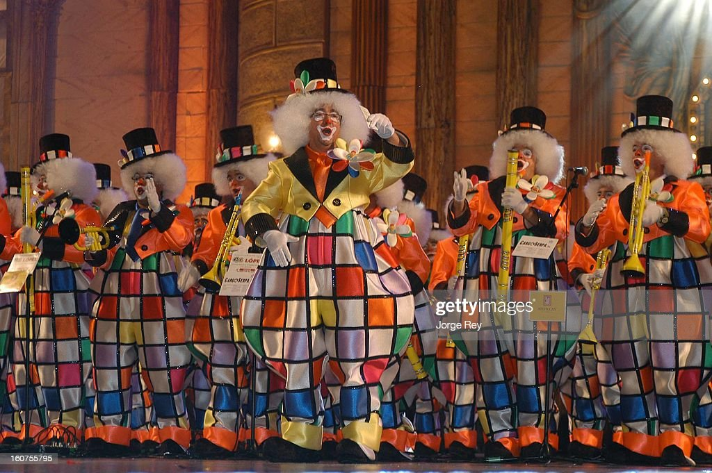 Extras act during the Gala on February 1, 2013 in Las Palmas de Gran Canaria, Spain.