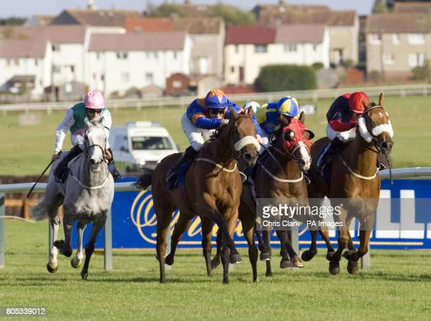 Extraterrestrial ridden by Frederik Tylicki wins the Ayrshire Handicap Stakes during the Gold Cup Festival at Ayr Racecourse Ayr