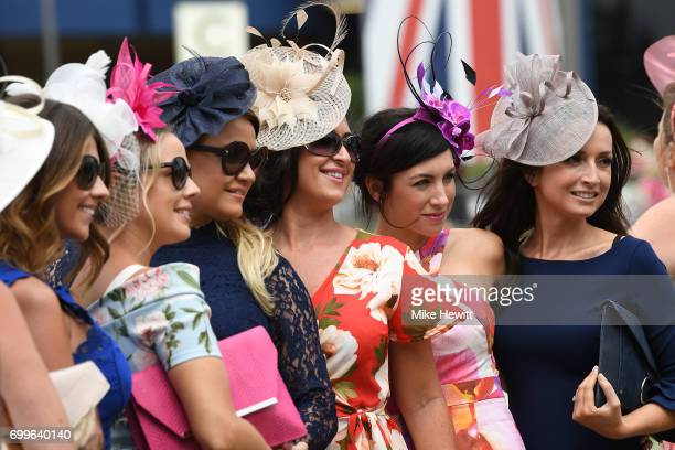 Extravagant hats are the order of Ladies Day on Day Three of Royal Ascot at Ascot Racecourse on June 22 2017 in Ascot England