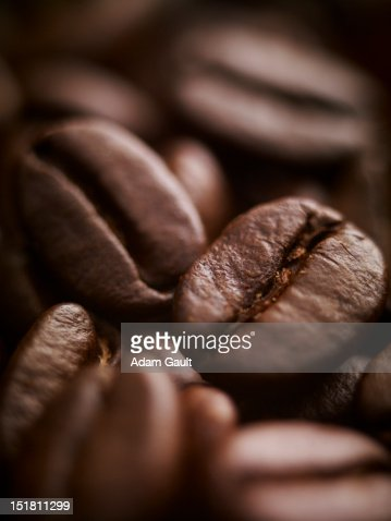 Extreme close up of coffee beans : Stock Photo