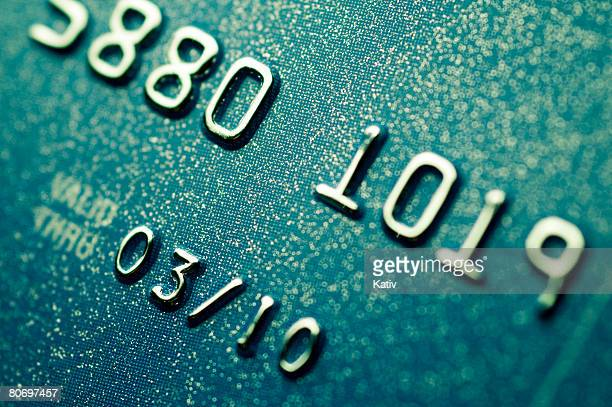 Extreme close up of credit card.