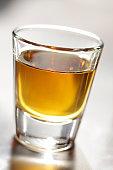 Extreme Close Up of Whiskey Shot