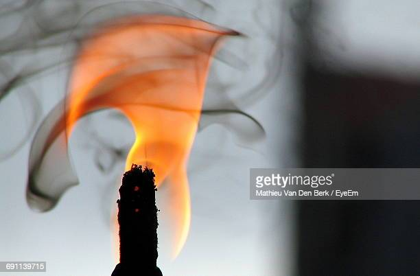Extreme Close-Up Of Burning Candle