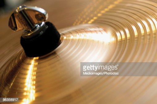 Extreme close-up of cymbal